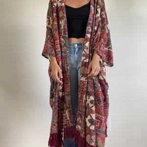 Urban outfitters blanket kimono